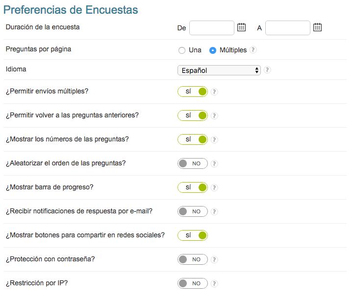 configuraciones de encuestas survio blog survio